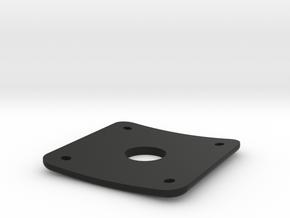 Plug Plate for Gibson Les Paul in Black Natural Versatile Plastic