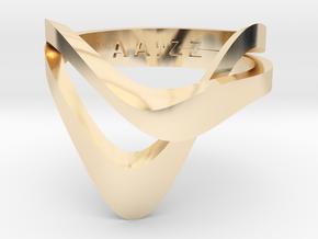 KAZE PRECIOUS in 14k Gold Plated Brass: 5 / 49