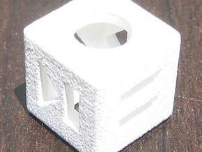 Shuffle Die in White Natural Versatile Plastic
