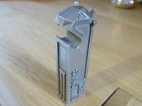 Yeti Bottle Opener in Polished Bronzed Silver Steel