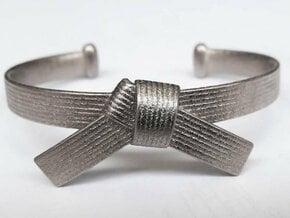 Martial Arts Belt Bracelet in Polished Nickel Steel