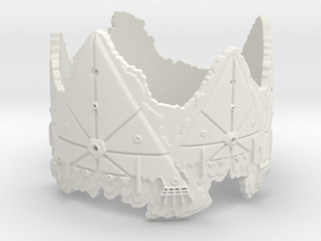 Cloud Ships 2, Ring Size 14 in White Natural Versatile Plastic