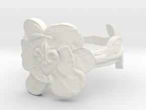 NOLA Magnolia, Ring Size 6 in White Natural Versatile Plastic