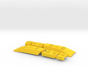 """Omega Supreme Leg Clips or """"shields"""" - Finish off  in Yellow Processed Versatile Plastic"""