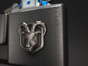 Goat(Emblem) in Polished Silver