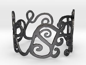 My Awesome Ring Design Ring Size 6.75 in Polished and Bronzed Black Steel