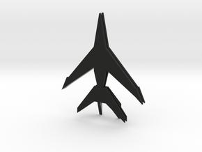 Plane in Black Natural Versatile Plastic