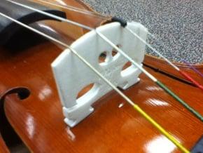 Violin Bridge V2 in White Natural Versatile Plastic