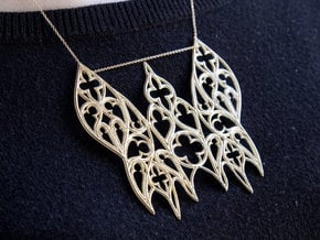 Gothic Moth in Natural Brass