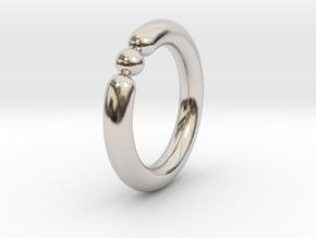 Bali Bania - Ballamond Ring in Rhodium Plated Brass: 6 / 51.5