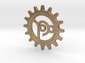 Capricorn Gear in Polished Gold Steel