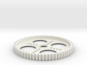 Spur Gear 65T (5mm wide) in White Natural Versatile Plastic