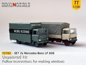 SET 2x Mercedes-Benz LP 608 (TT 1:120) in Smooth Fine Detail Plastic