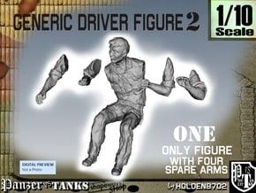 1-10 Generic Driver 02 in White Natural Versatile Plastic