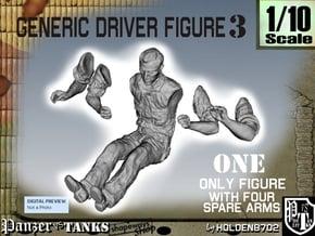 1-10 Generic Driver 03 in White Natural Versatile Plastic