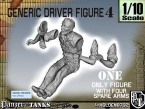 1-10 Generic Driver 04 in White Natural Versatile Plastic