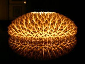 The Chrysanthemum Centrepiece in White Natural Versatile Plastic