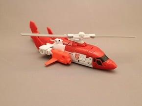 Combiner Wars Alpha Bravo, Blades type arm parts  in Red Processed Versatile Plastic