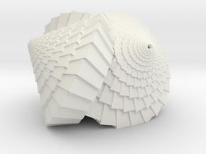Tri-Cone in White Natural Versatile Plastic: Medium