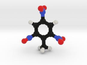 TNT Molecule Model, 3 Sizes. in Full Color Sandstone: 1:10