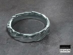 Ring - Organic Twist in Polished Bronzed Silver Steel