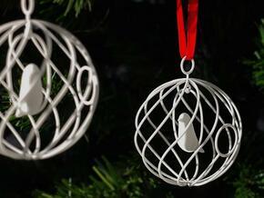merry bird - christmas ornament in White Natural Versatile Plastic