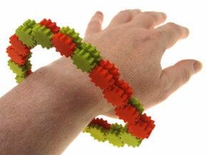 Gear Chain in White Natural Versatile Plastic