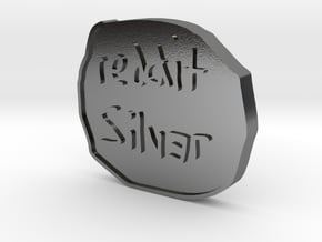 Reddit Silver - Two Sided Coin in Polished Silver