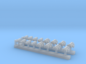 1:200 Scale USN Aircraft Nitrogen & Oxygen Carts in Smoothest Fine Detail Plastic