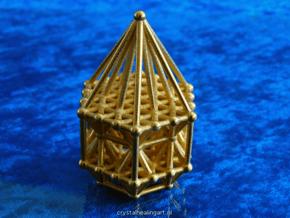 Hexagrid Matrix Stargate in Polished Gold Steel