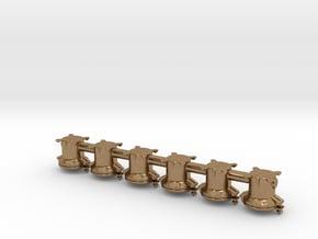 6 Triebwerkslampen für Dampflokomotive der DR in Natural Brass