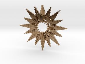 Art Deco Sunburst Pendant in Natural Brass