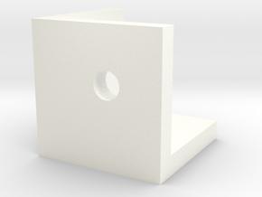 CornerConnector in White Processed Versatile Plastic
