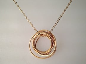 Asteroid Pendant in Natural Brass
