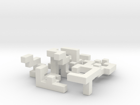 SwitchCube 6x6x6 cm in White Natural Versatile Plastic