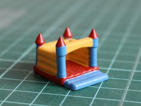 N Scale Bouncing Castle in Yellow Processed Versatile Plastic