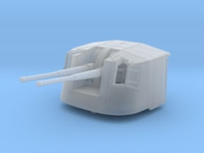 """1/350 4.7"""" MKXII CPXIX Twin Mount x3 in Smoothest Fine Detail Plastic"""