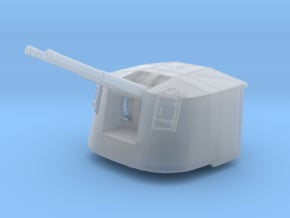 """1/350 4.7"""" MKXII CPXIX Mount x3 25º Ports Closed in Smoothest Fine Detail Plastic"""