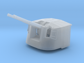"""1/350 4.7"""" MKXII CPXIX Twin Mount x4 25º in Smoothest Fine Detail Plastic"""