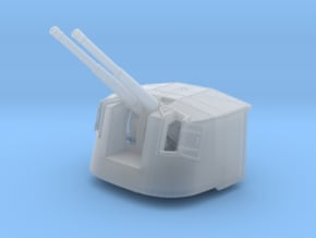 """1/350 4.7"""" MKXII CPXIX Twin Mount x4 40º in Smoothest Fine Detail Plastic"""