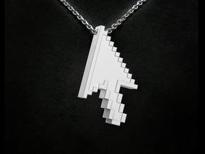 Pixel Click Pendant - Earring in White Natural Versatile Plastic