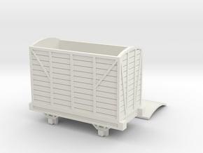 OO9 Narrow Gauge Goods Van Talyllyn / SR in White Natural Versatile Plastic