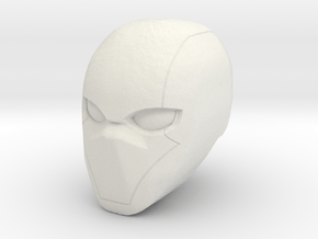 1:6 Comic Red Helmet in White Natural Versatile Plastic