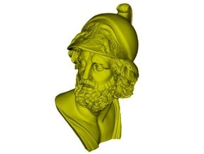 1/9 scale Menelaus king of Sparta bust in Smooth Fine Detail Plastic