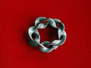 Interlocked waves in Polished Bronzed Silver Steel