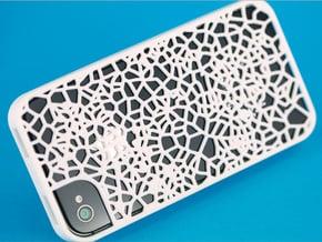 Organic texture iphone 4s cover in White Processed Versatile Plastic