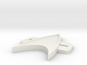 VoyagerBadge in White Natural Versatile Plastic
