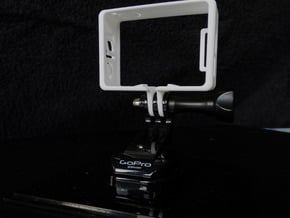 GoPro Hero 3 Frame Mount Strong Secure fit  Go Pro in White Natural Versatile Plastic