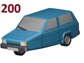Reliant Robin (1:200) in Smooth Fine Detail Plastic