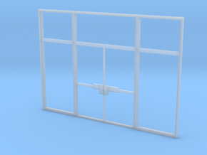 Double Office Door 1:35 scale in Smooth Fine Detail Plastic